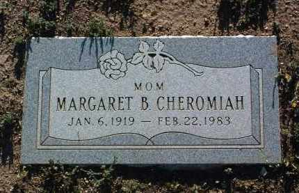 CHEROMIAH, MARGARET B. - Yavapai County, Arizona | MARGARET B. CHEROMIAH - Arizona Gravestone Photos