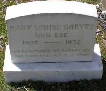 WOMACK CHEVES, MARY L. - Yavapai County, Arizona   MARY L. WOMACK CHEVES - Arizona Gravestone Photos