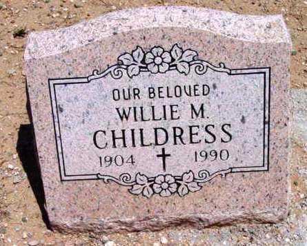 CHILDRESS, WILLIE M. - Yavapai County, Arizona | WILLIE M. CHILDRESS - Arizona Gravestone Photos
