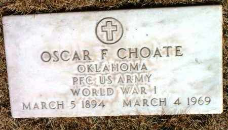 CHOATE, OSCAR FRANKLIN - Yavapai County, Arizona | OSCAR FRANKLIN CHOATE - Arizona Gravestone Photos