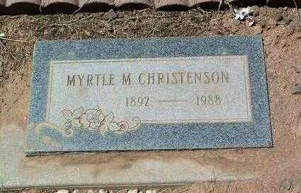 MCKIBBEN CHRISTENSON, MYRTLE M. - Yavapai County, Arizona | MYRTLE M. MCKIBBEN CHRISTENSON - Arizona Gravestone Photos