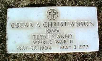 CHRISTIANSON, OSCAR A. - Yavapai County, Arizona | OSCAR A. CHRISTIANSON - Arizona Gravestone Photos