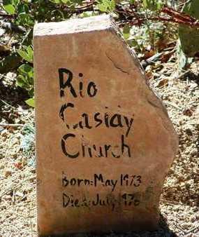 CHURCH, RIO CASIDY - Yavapai County, Arizona | RIO CASIDY CHURCH - Arizona Gravestone Photos