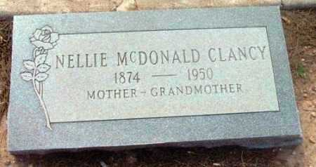MCDONALD CLANCY, NELLIE - Yavapai County, Arizona | NELLIE MCDONALD CLANCY - Arizona Gravestone Photos