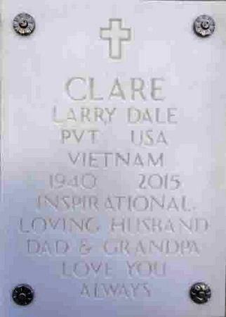 CLARE, LARRY DALE - Yavapai County, Arizona | LARRY DALE CLARE - Arizona Gravestone Photos