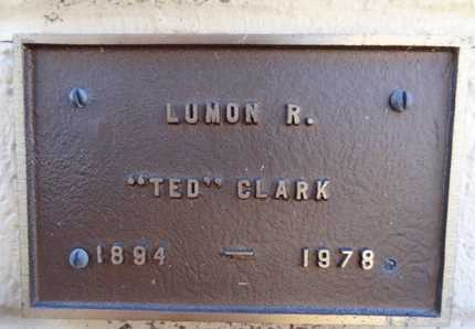 CLARK, LUMON R. (TED) - Yavapai County, Arizona | LUMON R. (TED) CLARK - Arizona Gravestone Photos