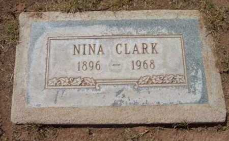 CLARK, NINA VICTORIA - Yavapai County, Arizona   NINA VICTORIA CLARK - Arizona Gravestone Photos