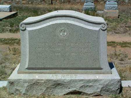 CLARK, WARREN B. - Yavapai County, Arizona | WARREN B. CLARK - Arizona Gravestone Photos