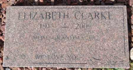 CLARKE, ELIZABETH - Yavapai County, Arizona | ELIZABETH CLARKE - Arizona Gravestone Photos