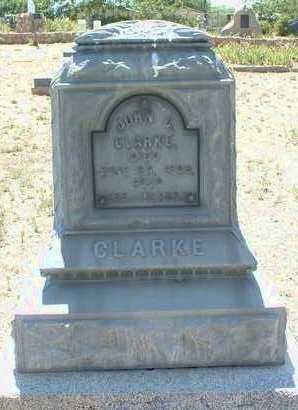 CLARKE, JOHN C. - Yavapai County, Arizona | JOHN C. CLARKE - Arizona Gravestone Photos