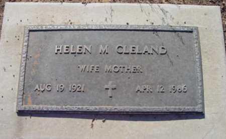 CLELAND, HELEN M. - Yavapai County, Arizona | HELEN M. CLELAND - Arizona Gravestone Photos