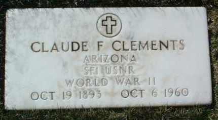 CLEMENTS, CLAUDE F. - Yavapai County, Arizona | CLAUDE F. CLEMENTS - Arizona Gravestone Photos