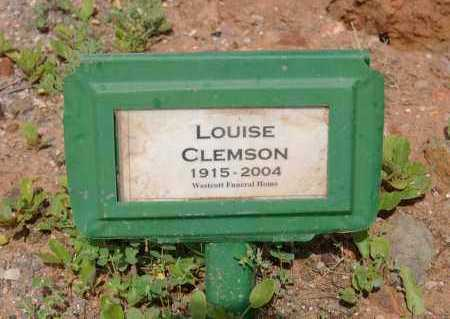 CLEMSON, LOUISE ELIZABETH - Yavapai County, Arizona | LOUISE ELIZABETH CLEMSON - Arizona Gravestone Photos