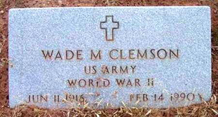 CLEMSON, WADE MALHON - Yavapai County, Arizona   WADE MALHON CLEMSON - Arizona Gravestone Photos