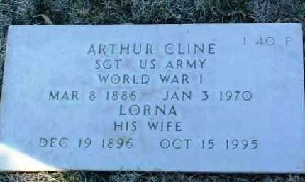 CLINE, ARTHUR - Yavapai County, Arizona   ARTHUR CLINE - Arizona Gravestone Photos