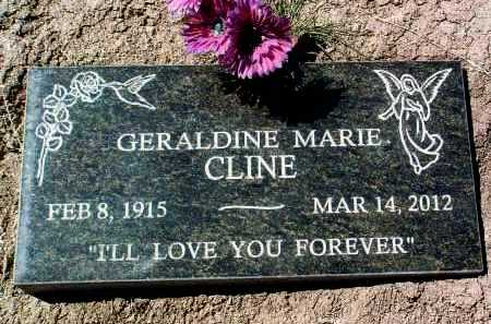 CLINE, GERALDINE MARIE E. - Yavapai County, Arizona | GERALDINE MARIE E. CLINE - Arizona Gravestone Photos