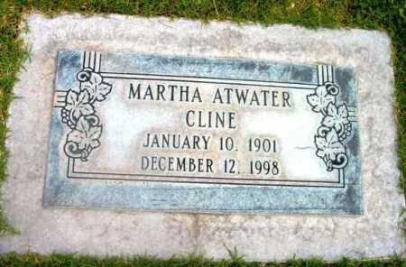 ATWATER CLINE, MARTHA - Yavapai County, Arizona | MARTHA ATWATER CLINE - Arizona Gravestone Photos