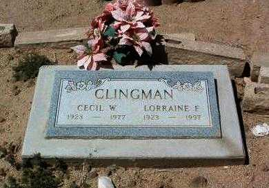 WOMACK CLINGMAN, L. F. - Yavapai County, Arizona | L. F. WOMACK CLINGMAN - Arizona Gravestone Photos