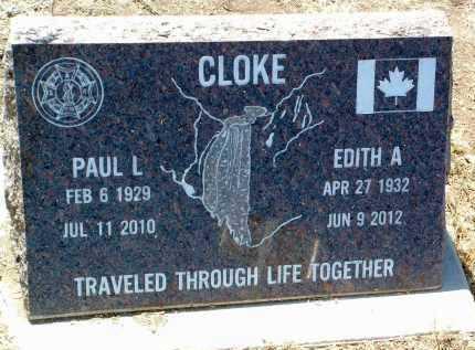 CLOKE, PAUL LEROY - Yavapai County, Arizona | PAUL LEROY CLOKE - Arizona Gravestone Photos