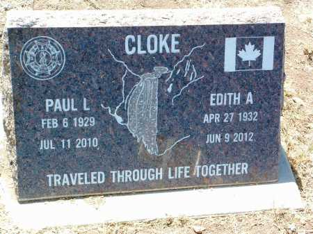 CLOKE, EDITH ANNE - Yavapai County, Arizona | EDITH ANNE CLOKE - Arizona Gravestone Photos
