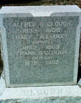CLOUGH, ALFRED SUMNER - Yavapai County, Arizona | ALFRED SUMNER CLOUGH - Arizona Gravestone Photos