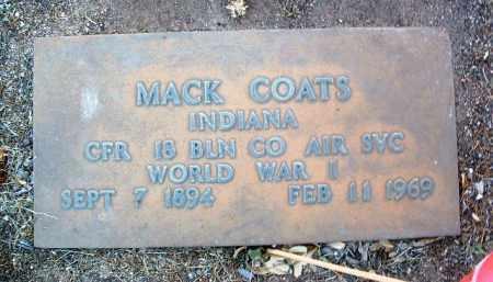 COATS, MACK - Yavapai County, Arizona | MACK COATS - Arizona Gravestone Photos