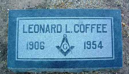 COFFEE, LEONARD L. - Yavapai County, Arizona | LEONARD L. COFFEE - Arizona Gravestone Photos