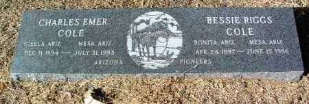 COLE, BESSIE - Yavapai County, Arizona | BESSIE COLE - Arizona Gravestone Photos