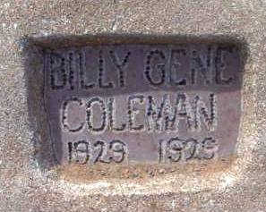 COLEMAN, BILLY GENE - Yavapai County, Arizona | BILLY GENE COLEMAN - Arizona Gravestone Photos