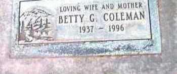 TAYLOR COLEMAN, BETTY G. - Yavapai County, Arizona | BETTY G. TAYLOR COLEMAN - Arizona Gravestone Photos