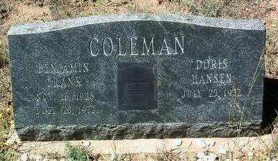COLEMAN, DORIS - Yavapai County, Arizona | DORIS COLEMAN - Arizona Gravestone Photos
