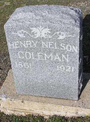 COLEMAN, HENRY NELSON - Yavapai County, Arizona | HENRY NELSON COLEMAN - Arizona Gravestone Photos