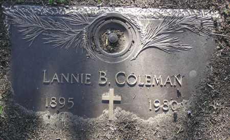 COLEMAN, LANNIE B. - Yavapai County, Arizona | LANNIE B. COLEMAN - Arizona Gravestone Photos