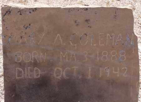 SMITH COLEMAN, MARY A. - Yavapai County, Arizona | MARY A. SMITH COLEMAN - Arizona Gravestone Photos
