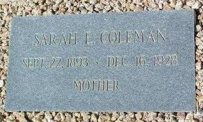 COLEMAN, SARAH ETTA - Yavapai County, Arizona | SARAH ETTA COLEMAN - Arizona Gravestone Photos