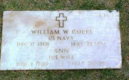 COLES, WILLIAM W. - Yavapai County, Arizona | WILLIAM W. COLES - Arizona Gravestone Photos