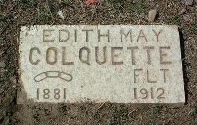 COLQUETTE, EDITH MAY - Yavapai County, Arizona | EDITH MAY COLQUETTE - Arizona Gravestone Photos