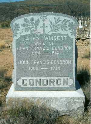 WINGERT CONDRON, L. - Yavapai County, Arizona | L. WINGERT CONDRON - Arizona Gravestone Photos