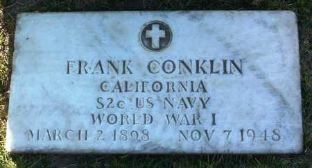 CONKLIN, FRANK - Yavapai County, Arizona | FRANK CONKLIN - Arizona Gravestone Photos
