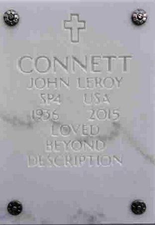 CONNETT, JOHN LEROY - Yavapai County, Arizona | JOHN LEROY CONNETT - Arizona Gravestone Photos