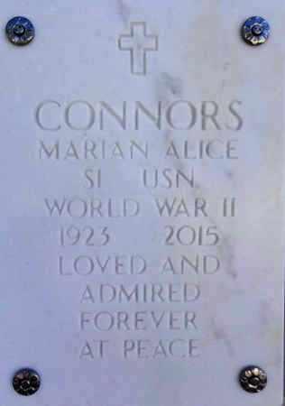 CONNORS, MARIAN ALICE - Yavapai County, Arizona | MARIAN ALICE CONNORS - Arizona Gravestone Photos
