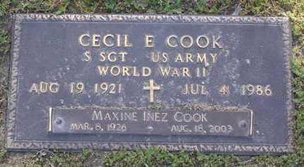 COOK, MAXINE INEZ - Yavapai County, Arizona | MAXINE INEZ COOK - Arizona Gravestone Photos