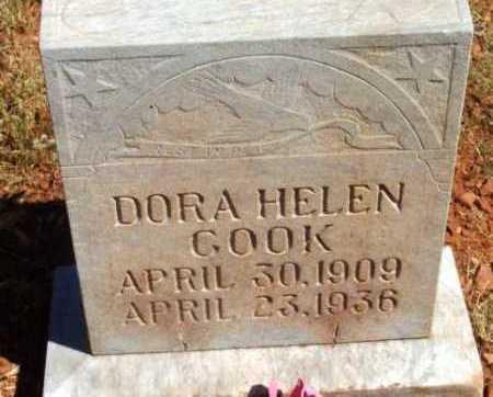 BUNGER COOK, DORA HELEN - Yavapai County, Arizona | DORA HELEN BUNGER COOK - Arizona Gravestone Photos
