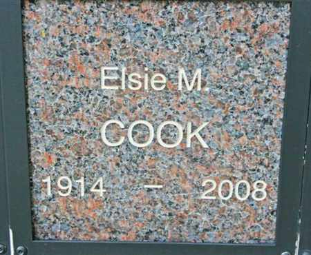 COOK, ELSIE M. - Yavapai County, Arizona | ELSIE M. COOK - Arizona Gravestone Photos