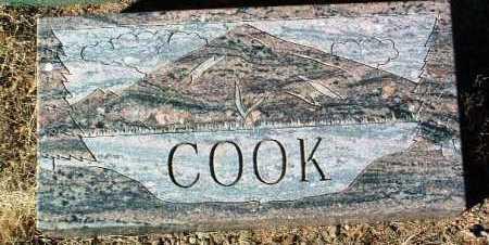 COOK, UNKNOWN - Yavapai County, Arizona | UNKNOWN COOK - Arizona Gravestone Photos