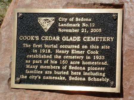 COOKS CEDAR GLADE,  - Yavapai County, Arizona    COOKS CEDAR GLADE - Arizona Gravestone Photos