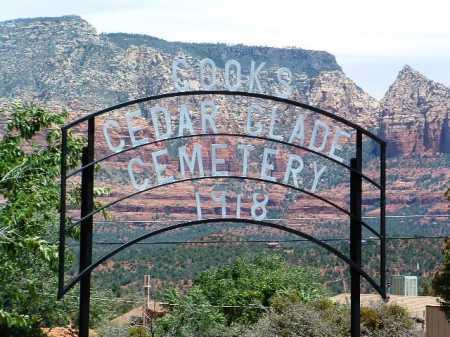 COOK'S CEDAR GLADE,  - Yavapai County, Arizona |  COOK'S CEDAR GLADE - Arizona Gravestone Photos