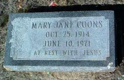 COONS, MARY JANE - Yavapai County, Arizona | MARY JANE COONS - Arizona Gravestone Photos