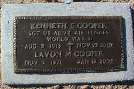 COOPER, LAVON M. - Yavapai County, Arizona | LAVON M. COOPER - Arizona Gravestone Photos