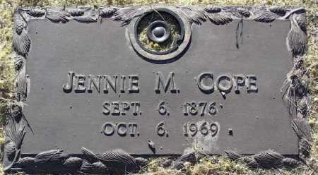 COPE, JENNIE M. - Yavapai County, Arizona | JENNIE M. COPE - Arizona Gravestone Photos